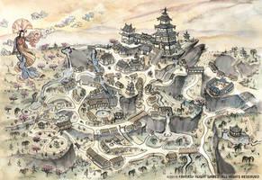 Kyuden Asako Map - L5R RPG