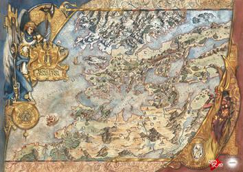 Map of Northern Pannithor - Kings of War RPG