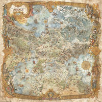 World of Argea Map - RPG videogame Realms Beyond