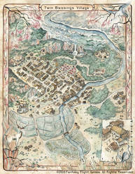 Twin Blessings Village Map - L5R RPG