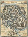 Map of Hirosaka - L5R RPG