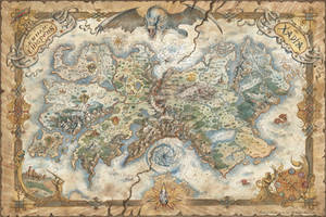 Map of Xadia for The Dragon Prince series