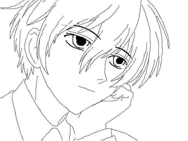 ouran highschool coloring pages - photo#15