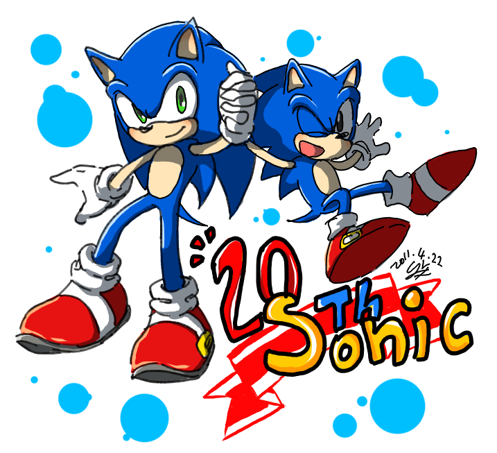 Sonic the hedgehog 20th by Hanybe
