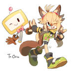 Zry the sugar glider and Bec by Hanybe