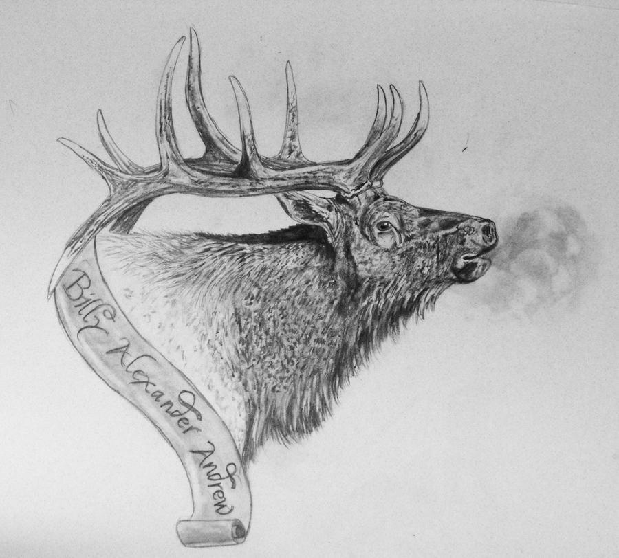 pin elk horns tattoo on pinterest. Black Bedroom Furniture Sets. Home Design Ideas
