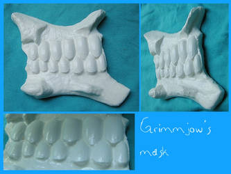 BLEACH - Grimmjow mask by AridelaAriadne
