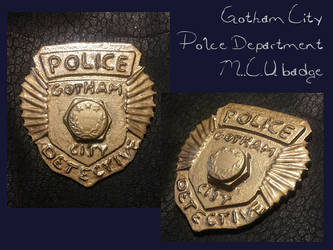 DC COMICS - Gotham City Police - MCU badge by AridelaAriadne
