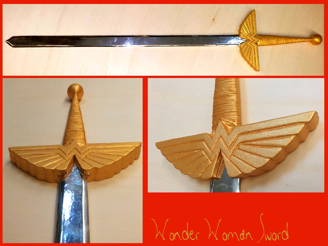 DC comics - Wonder Woman Sword by AridelaAriadne