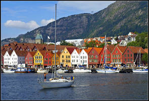 Norway - Bergen Cityscape by AgiVega