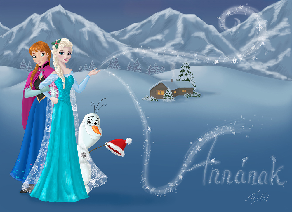 Anna, Elsa And Olaf For Anna By AgiVega On DeviantArt