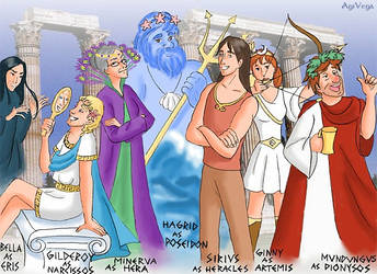Potter Cast Conquers OlympusII by AgiVega