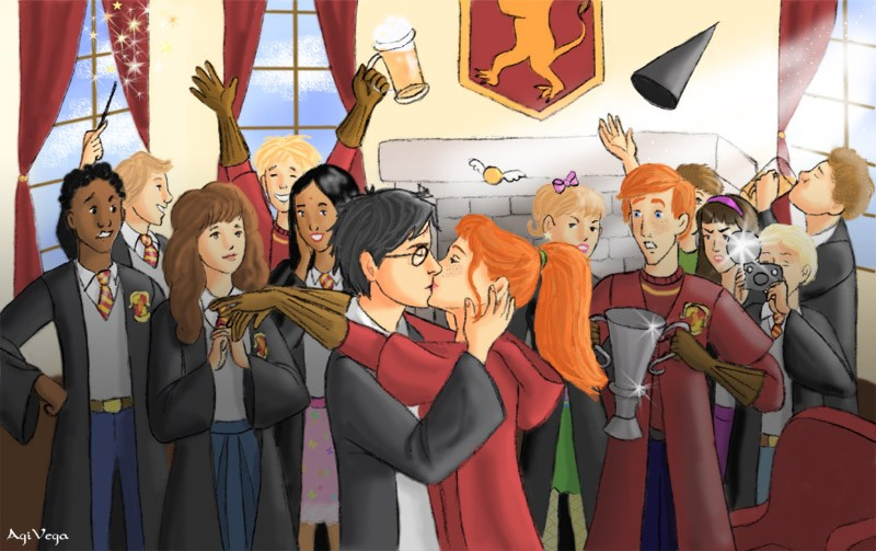 HBP - Quidditch victory by AgiVega on DeviantArt