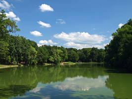 Lake in a Castle Park