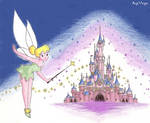 Tinkerbelle and Disney castle