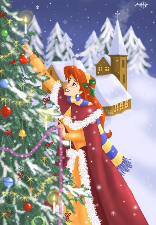 Ariel 39 s christmas by agivega for Ariel christmas decoration