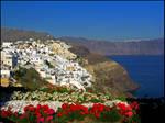 Greece - Flower-framed Oia