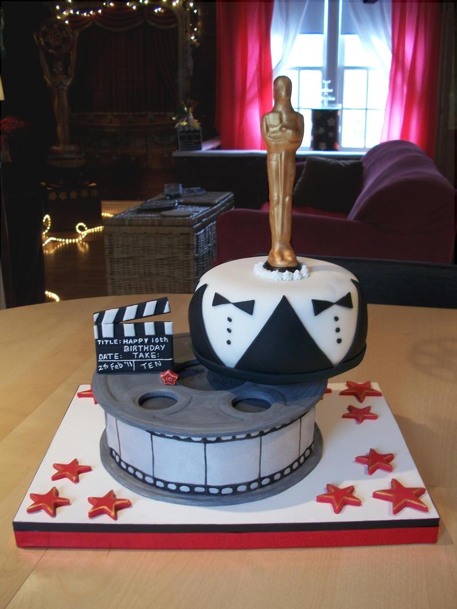 Hollywood Oscar Cake Topper