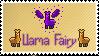 Fairy Llama Stamp by Blodsten