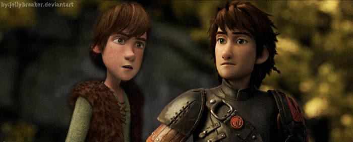 Adult Hiccup and Young Hiccup!