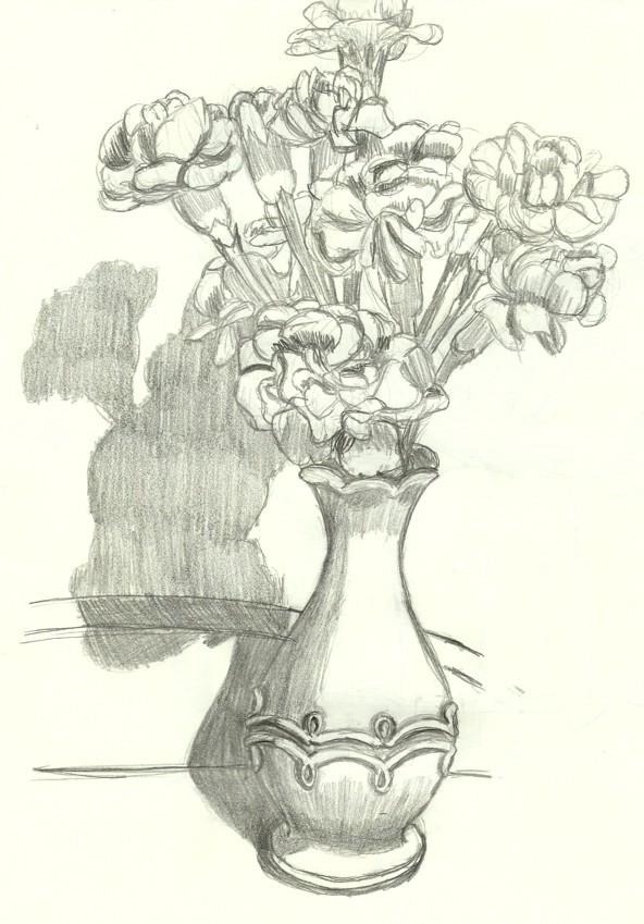 vase with flowers by neko765 on deviantart. Black Bedroom Furniture Sets. Home Design Ideas