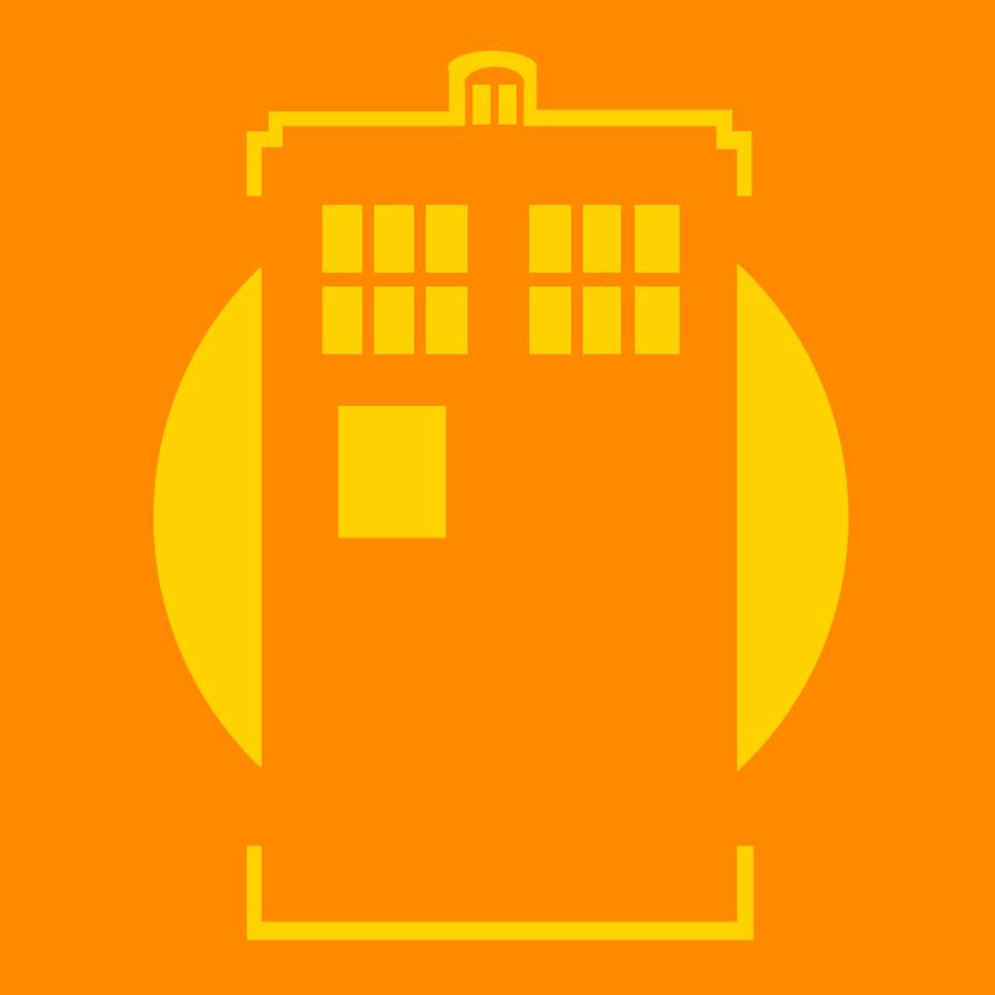 TARDIS - pumpkin pattern 2 by The-Apiphobic-Artist