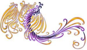 Phoenix Dragon Tribal Design