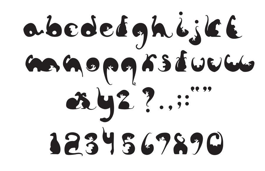 Cute Typography Alphabet