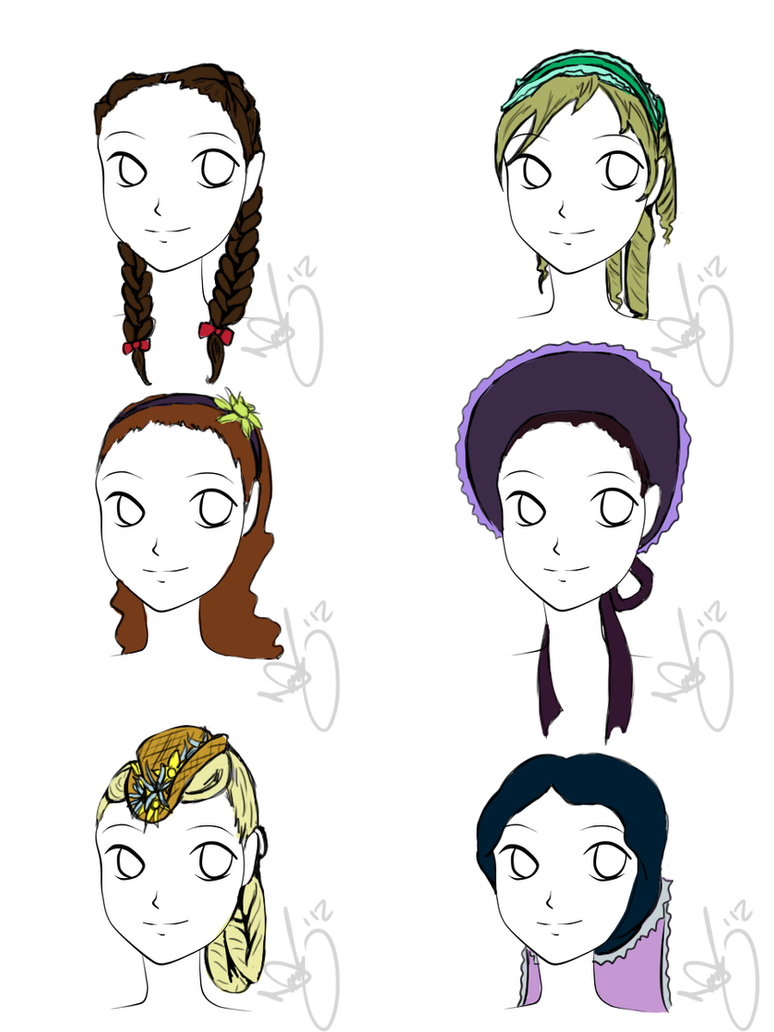 Female Hairstyles Gothic Anime Class By Littlesardines