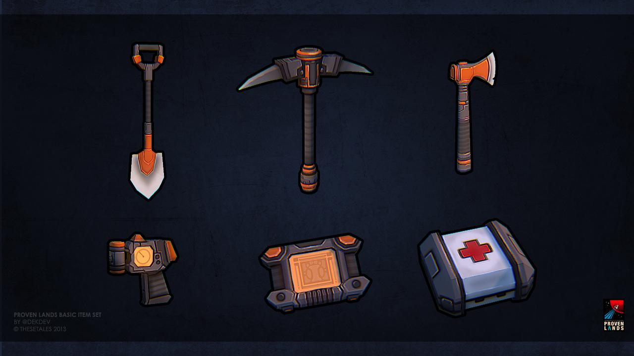 Proven Lands basic item set by dekdev