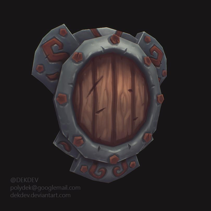 Lowpoly Handpainted Shield by dekdev