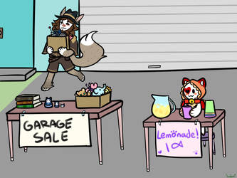 April prompt -  Garage Sale