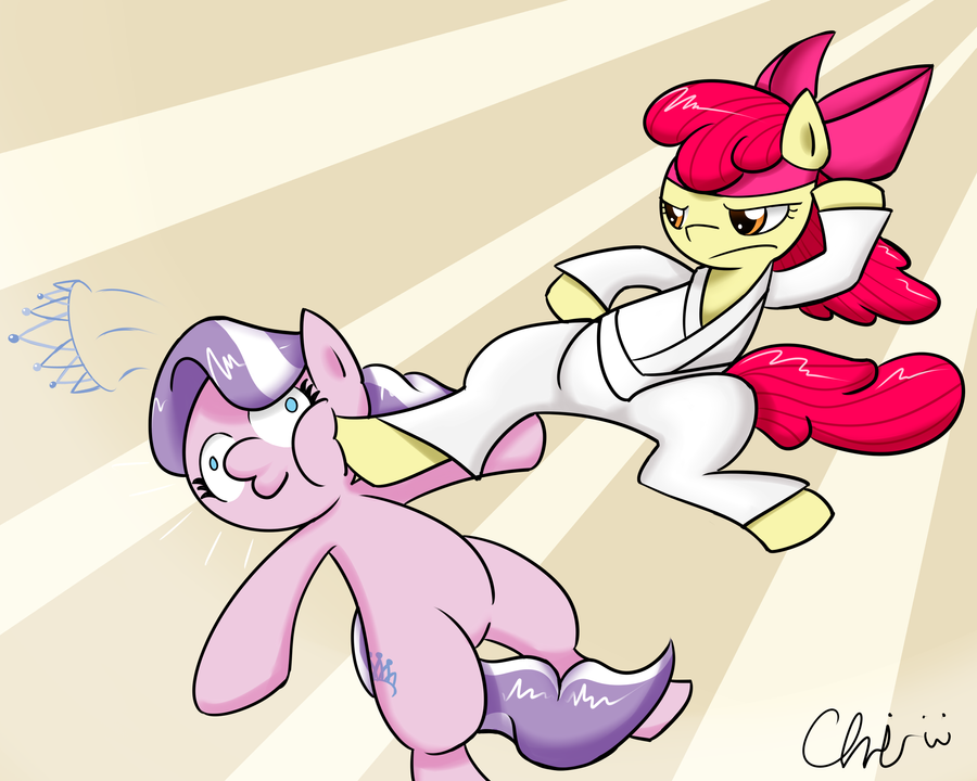K.O. Apple Bloom wins! by NekoCrispy