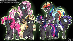 :Commission: Mane 6 As Changelings