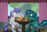 :Commission: Having a romantic lunch