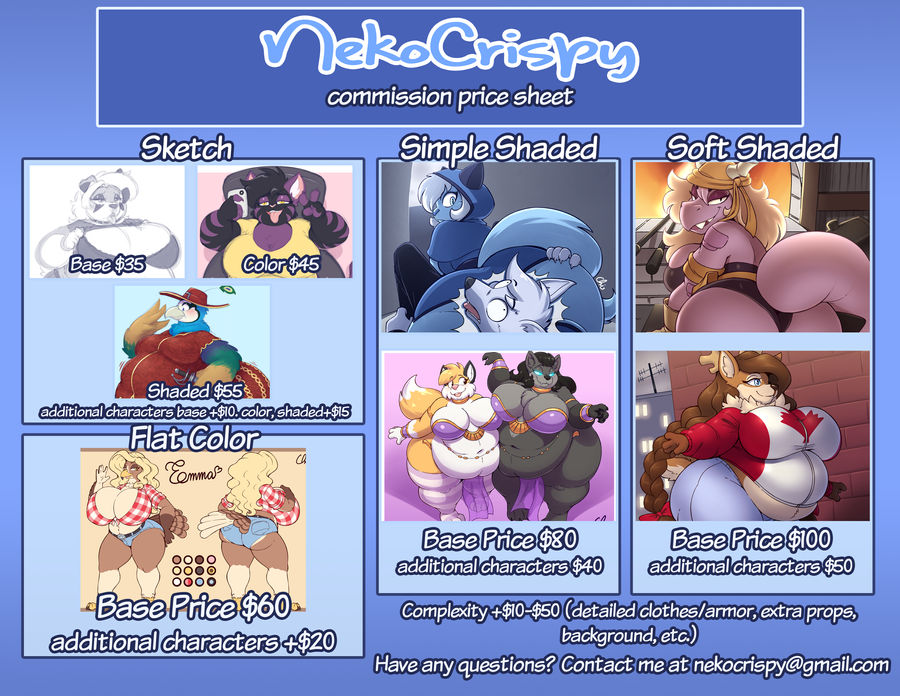 Commission prices and info (updated 6/18/20)