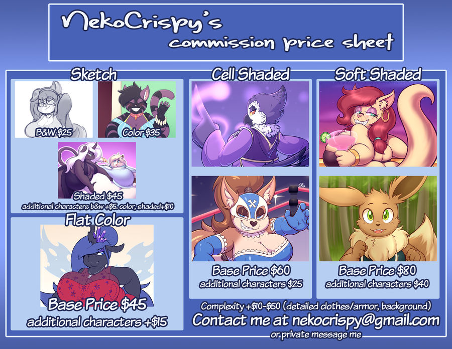 Commission prices and info (updated 1/21/19)