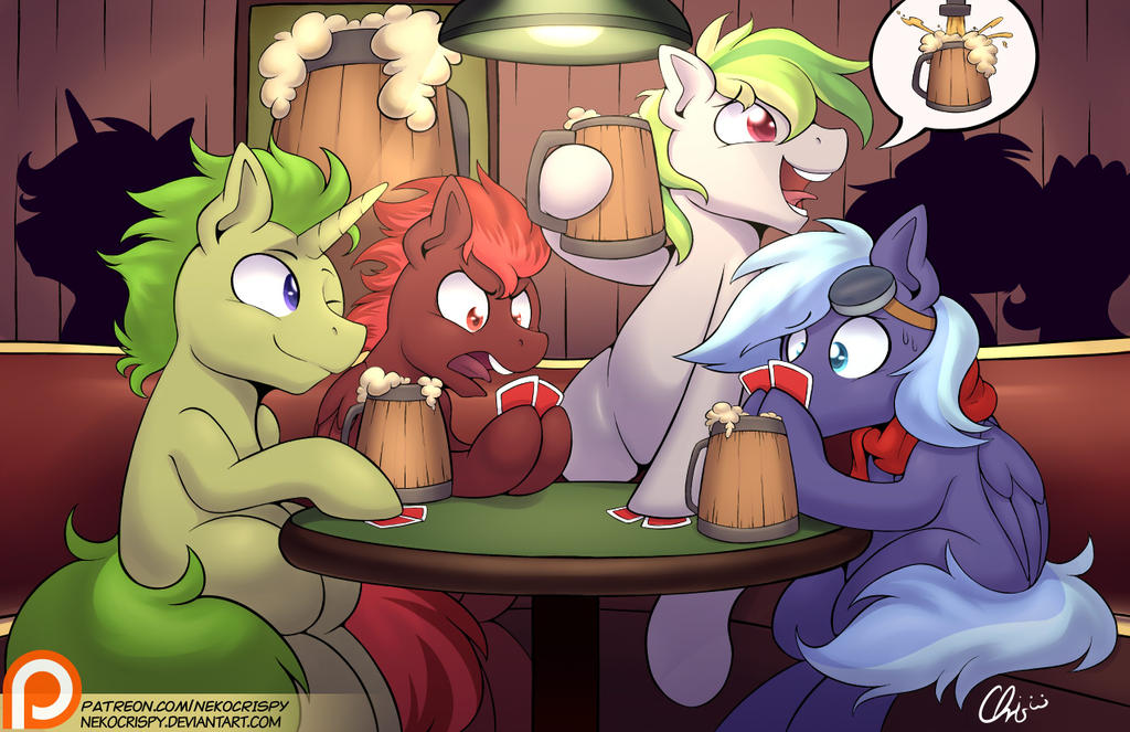:Patreon Commission OCs playing poker by NekoCrispy
