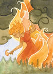 Forest Fire ACEO