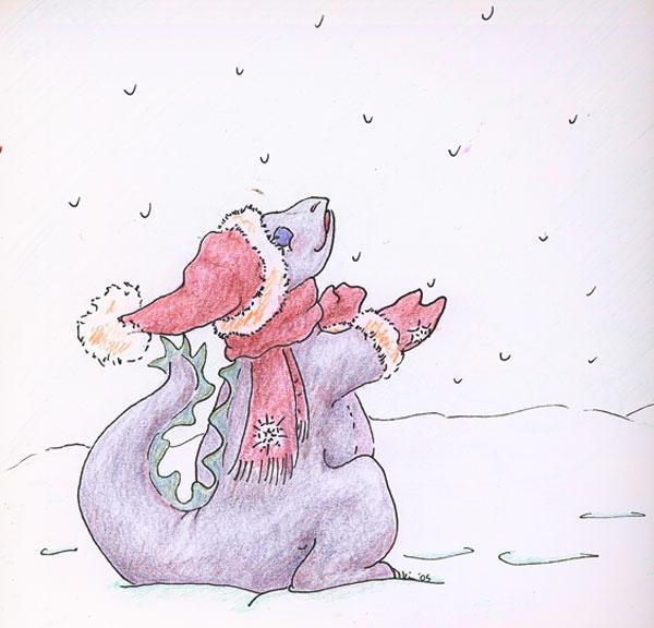 Hatchling's Snowfall by metasilk
