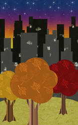 Autumn Skyline by andronykus