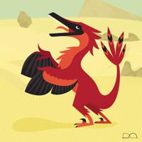 Vainglorious Velociraptor by anatotitan