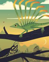 Longisquama Sunset by anatotitan