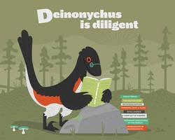 Deinonychus is Diligent by anatotitan