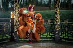 Ahri foxfire cosplay