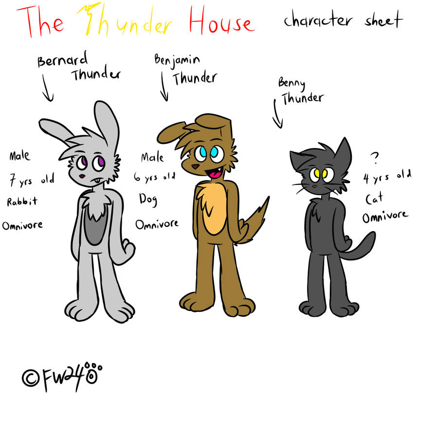 The Thunder House character sheet by FirzanWolf24 by FirzanWolfred240