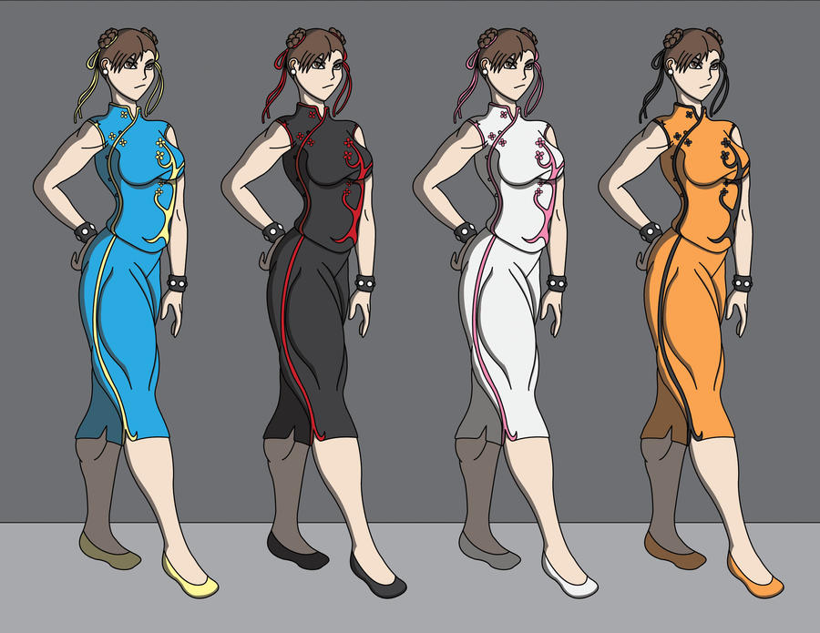 Chun-Li Redesign Alt Colors by DrasticAction