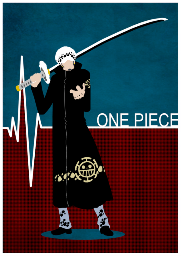 One Piece Minimalist Poster Trafalgar Law By MinimallyOnePiece
