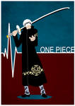 One Piece Minimalist Poster: Trafalgar Law