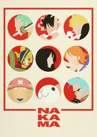 One Piece Minimalist Poster: Nakama. by MinimallyOnePiece
